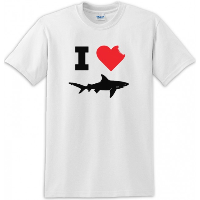 Brand new I Love Sharks Sharkbite Tee Shirt For Shark Week OT84