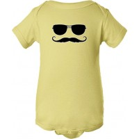 Sunglasses And Mustache Baby Bodysuit Sun N' Stache
