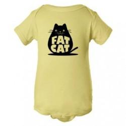 Baby Bodysuit Fat Cat Feline Roundest