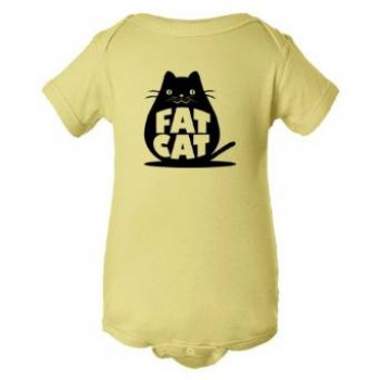 Baby Bodysuit Fat Cat Feline Roundest