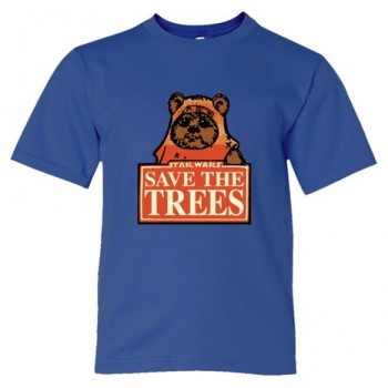 Youth Sized Save The Trees Star Wars Ewok - Tee Shirt