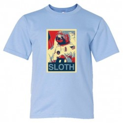 Youth Sized Sloth Face Plain Simple - Tee Shirt