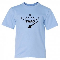 Youth Sized Swag Meter Gas Tank Full Swag - Tee Shirt