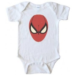 Spiderman Bra Face Boobs - Baby Bodysuit