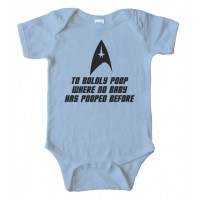 To Boldly Poop Where No Baby Has Pooped Before Star Trek Bodysuit