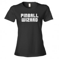 Pinball Wizard Backglass Font Player - Tee Shirt