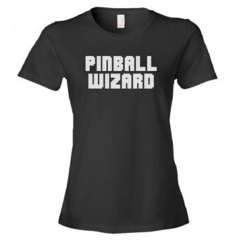 Pinball Wizard Backglass Font Player - Tee Shirt