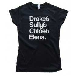 Womens Drake&Amp; Sully&Amp; Chloe&Amp; Elena. - Uncharted: Drake'S Fortune Tee Shirt