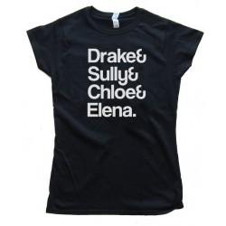 Womens Drake&Amp; Sully&Amp; Chloe&Amp; Elena. - Uncharted: Drake'S Fortune Tee Shirt
