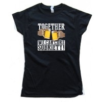 Womens Together We Can Cure Sobriety - Tee Shirt