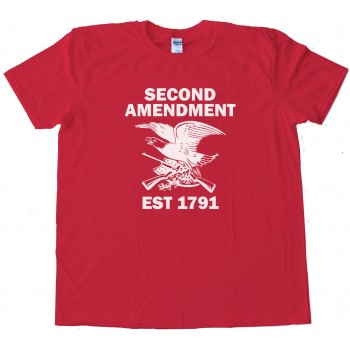 1791 Second Amendment Eagle With Guns - Tee Shirt