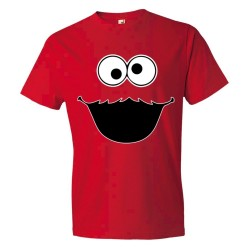 Big Cookie Monster Face - Tee Shirt