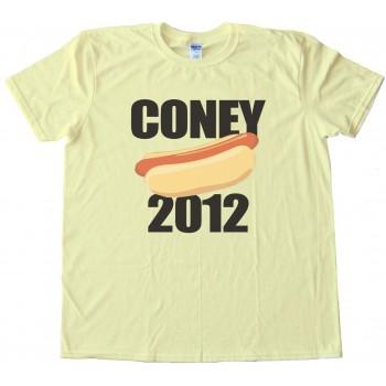 Coney 2012 Hot Dog Tee Shirt