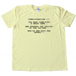 Conglaturation Ghost Busters Classic Nintendo Nonsense Screen - Retro Gaming - Tee Shirt