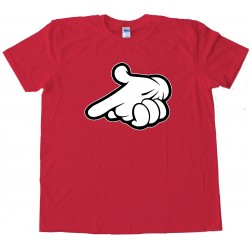 Drake Mickey Mouse Gun Hands - Tee Shirt
