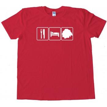 Eat Sleep And Chicago Blackhawks Hockey - Tee Shirt