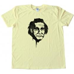 Einstein Graffitti Stencil Retro - Tee Shirt