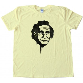 Einstein Graffitti Stencil Retro - Tee Shirt