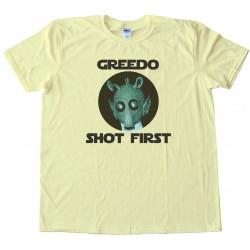 Greedo Shot First - Star Wars - Tee Shirt