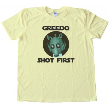 Greedo Shot First - Star Wars - Tee Shirt