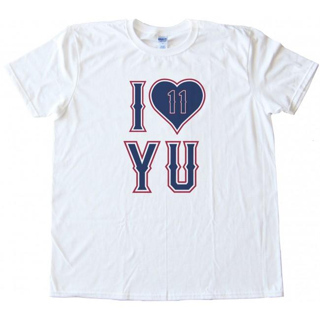 low cost be886 ff24c I Love Yu - Yu Darvish Texas Rangers Pitcher Tee Shirt