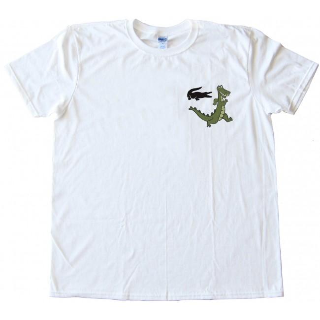 Izod lacoste alligator runaway tee shirt for Lacoste shirts with big alligator