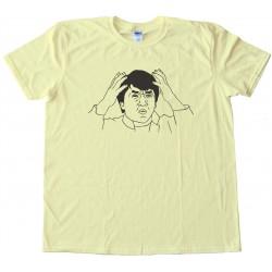 Jackie Chan Rage Comic Face Tee Shirt