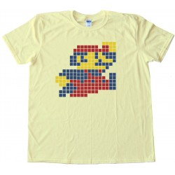 Mario Brothers Mario Sprite 8 Bit Pixel Nintendo - Tee Shirt