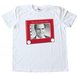 Mitt Romney Etch A Sketch Tee Shirt