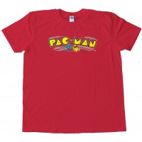 Pacman Classic Video Game Pac Man Logo - Tee Shirt