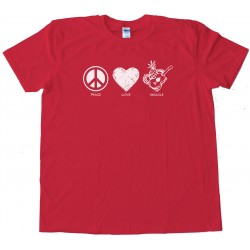 Peace Love And Ukulele - Tee Shirt