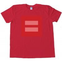 Pink Equal Symbol Facebook Equality - Tee Shirt