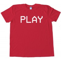 Play Camcorder Text Vcr - Tee Shirt