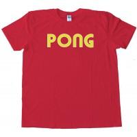 Pong Classic Arcade Game Logo Atari - Tee Shirt