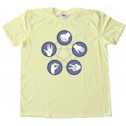 Rock Paper Scissors Lizard Spock - Tee Shirt