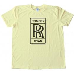 Romney Ryan Rolls Royce Logo - Tee Shirt