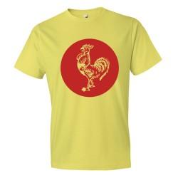 Sriracha Rooster Emblem Logo - Tee Shirt