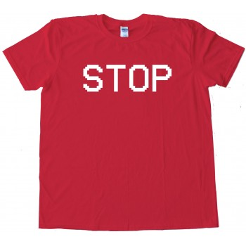 Stop Camcorder Text Vcr - Tee Shirt
