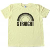 Straight Grey Rainbow - Not Gay - Tee Shirt