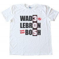Three Kings - Miami Heat - Wade Lebron Bosh Tee Shirt