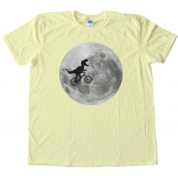 Trex On A Bike In Front Of The Moon - Tee Shirt