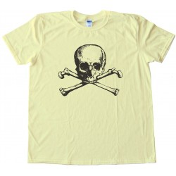 Vintage Skull And Crossbones - Tee Shirt