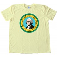 Washington State Flag George Washington - Tee Shirt