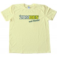 Zombies Eat Flesh Subway Eat Fresh - Tee Shirt