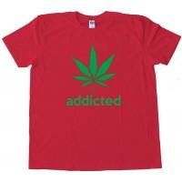 Addicted Marijuana Leaf Adidas Parody Tee Shirt