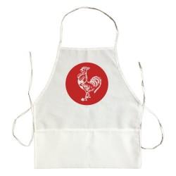 Apron Sriracha Rooster Emblem Logo