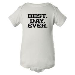 Baby Bodysuit Best. Day. Ever. Mad Magazine Font