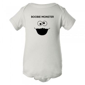 Baby Bodysuit Boobie Monster Cookie Monster