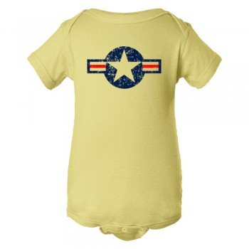 Baby Bodysuit Classic American Military Star Air Force