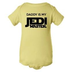 Baby Bodysuit Daddy Is My Jedi Master